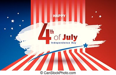 4th of July Independence Day greeting card