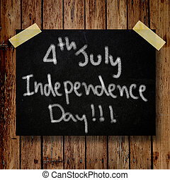 4th of July independence day note paper
