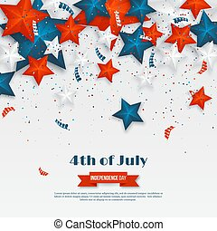 c653f48938f 4th of July - Independence day of America. American holiday background. 3d  stars in