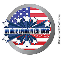 4th of july independence day seal
