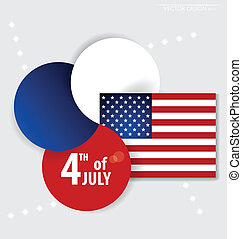 4th of July independence day. Vector background design.