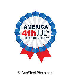 4th of july label - american 4th of july vector badge design