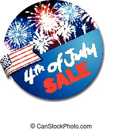 4th of july label