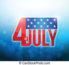 4th of july okeh abstract light background.