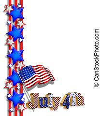 4th of July patriotic border