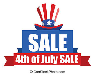 4th of July Sale banner - Drawing Art of 4th of July Sale...