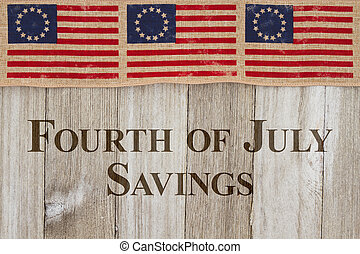 4th of July Sale message