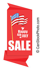 4th of july sale origami banner