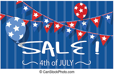 4th of july sale vector background