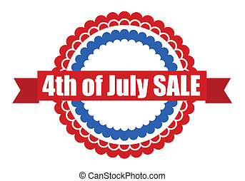 4th of july seal badge vector