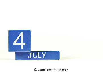 4th of July show on wood calendar