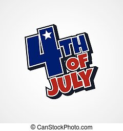 4th of july sign theme vector art illustration