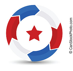 Drawing Art of Circle Star - US 4th of July - Independence Day Vector Design