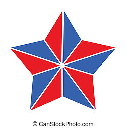 4th of july star vector