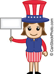 4th of July - Uncle Sam Girl