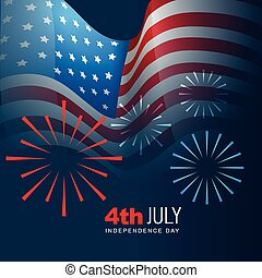 4th of july vector - 4th of july american independence day...