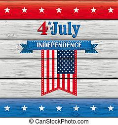 4th of July Wood US-Flag