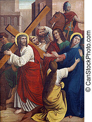 4th Stations of the Cross, Jesus meets His Mother