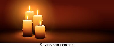 4th Sunday of Advent - Fourth Candle - Candlelight Panorama...