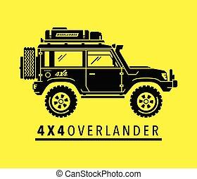 4wd, overland, fora-estrada, suv, todo-terreno, safari, veículo, 4x4