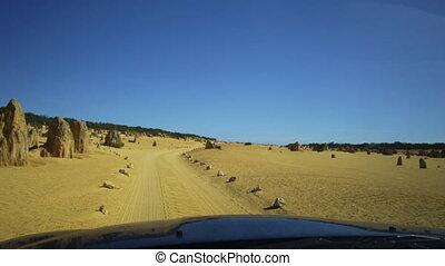 4WD Pinnacles Drive through - POV hyper lapse of a...