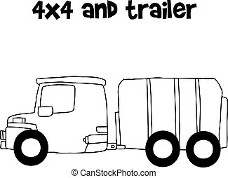 trailer vector illustration