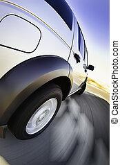 4x4, automobile, movimento