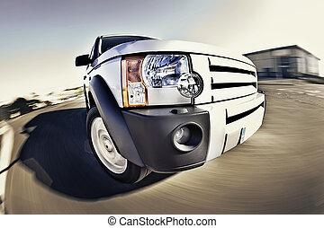 4x4, automobilen, motion