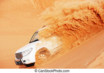 4x4 dune bashing is a popular sport - 4 by 4 dune bashing is...