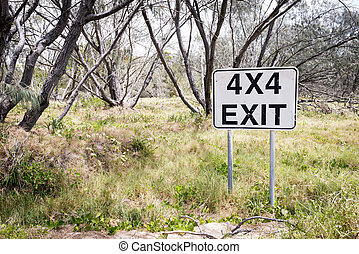 4X4 Exit Track Sign
