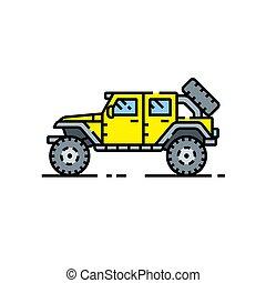 4x4 utility vehicle line icon