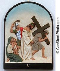 5ème, croix, stations