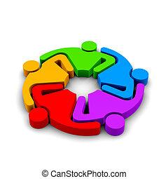 5, קבץ, לחבק, שיתוף פעולה