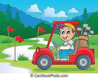 5, イメージ, ゴルフ, 主題