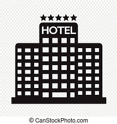 5, ホテル, 星, アイコン