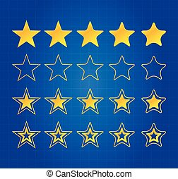 5, 星, 品質, 賞