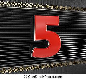 5, 結び目, 無限, 数, 赤