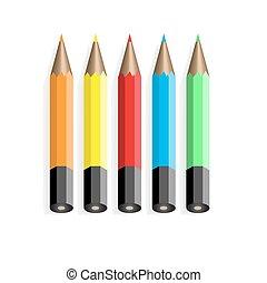 5, 色, pencils.vector