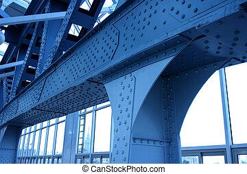 5, 藍色, 橋梁