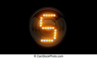 5, 表示器, lamps., ガス, digit., レンダリング, five., 解任, ディジット, 3d., 3d, nixie, チューブ, 表示器