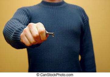 5, 钥匙, 手