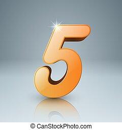 5, 黄色, アイコン