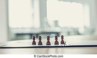 5, 담보, 체스, 은 계산한다, 서 있는, 통하고 있는, 자형의 것, 신청서 양식, 또는, 문서