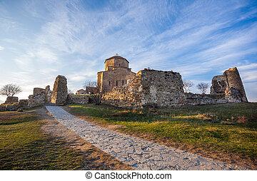 5-6, ortodoxo, geórgia, mosteiro, século, jvari., mtskheta,...