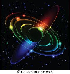 #5., abstratos, sistema, solar
