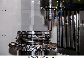 5-axis boring and turning machine