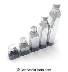 5 bottles in different sizes
