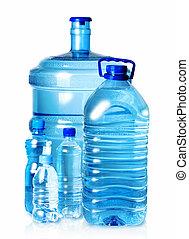 5 bottles of water