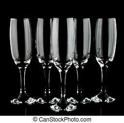 5 champaign flutes