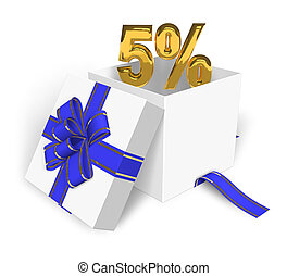 5% discount concept